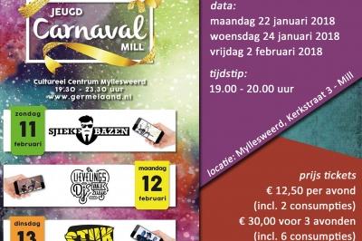 Evenement: Jongerenbals carnaval Mill